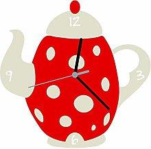 Enjoy Your Time Tea/Coffee Pot Kitchen Wall Clock