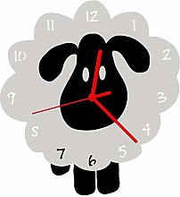 Enjoy Your Time White Sheep Wall Clock (e9539wht)