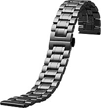 ENJY Watch Strap Metal Solid Stainless Steel Strap