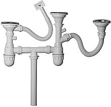 ENKI SA006 Plumbing Kit Triple Bowl Kitchen Sink