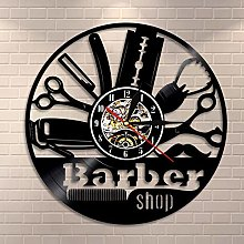 Enofvd Barber logo wall clock barber shop wall