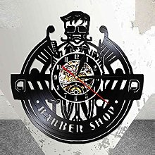 Enofvd Barber shop vinyl record wall clock kit