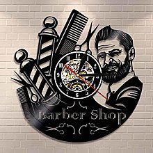 Enofvd Barber shop wall clock barber pole vinyl