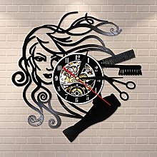 Enofvd Hairdressing beauty salon vinyl record wall