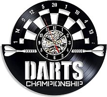 Enofvd Wall art vinyl clock nightclub bar darts