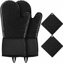 ENONEO Silicone Oven Gloves Double Heat Resistant
