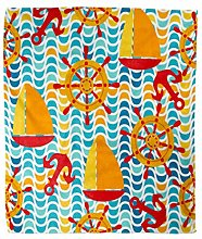 Enrgo Flannel Throw Blanket 50x60 Inch Abstract