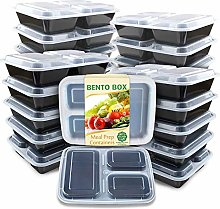 Enther Meal Prep Containers 36oz Lids, Food