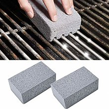 ENticerowts 2Pcs Barbecue Cleaning Brick Glass