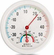 ENticerowts Clock Shape Thermometer Mini Indoor