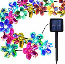 ENUOLI 50 LEDs Peach Blossom Fairy Lights Solar