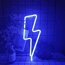 ENUOLI Blue Lightning Neon Light Neon Signs Neon