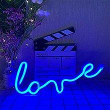ENUOLI Blue Neon Light Love Light up Sign Neon
