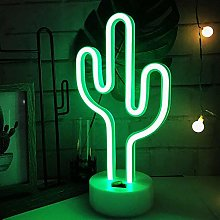 ENUOLI Cactus Lights Neon Signs LED Cactus Neon