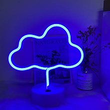 ENUOLI Cloud Neon Light Signs Neon Blue Sign Cloud