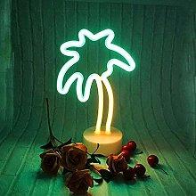 ENUOLI Coconut Palm tree Neon Signs LED Battery