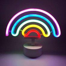 ENUOLI Cute Rainbow Neon Sign LED Rainbow Neon