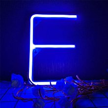 ENUOLI LED Blue Neon Letters Sign Neon Night
