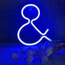 ENUOLI LED Letter Neon Signs Blue Neon Light up