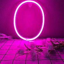 ENUOLI LED Neon Letter Sign Pink Night Lights