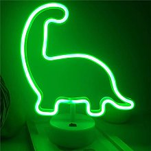 ENUOLI LED Neon Night Light Dinosaur Shaped with