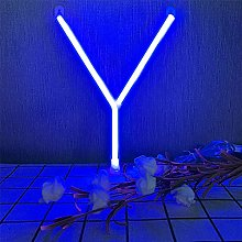 ENUOLI LED Neon Sign Letters Y Blue Battery/USB