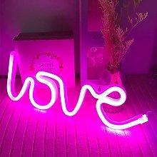ENUOLI Love Neon Light Neon Love Signs Pink Neon