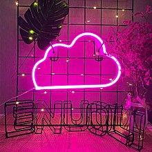 ENUOLI Neon Cloud Lights Pink Neon Light Neon