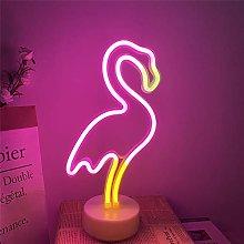ENUOLI Neon Flamingo Light Pink Neon Sign LED Neon