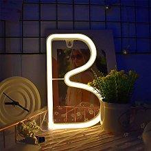 ENUOLI Neon Letter Signs Night Light Battery or