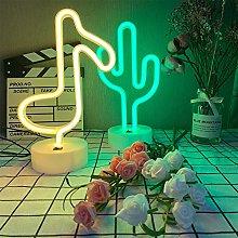 ENUOLI Neon Light Cactus Light Neon Light Signs