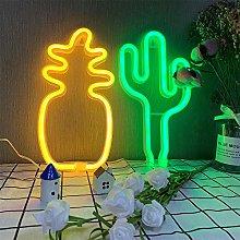 ENUOLI Neon Light Cactus Neon Light Signs