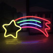 ENUOLI Neon Sign Meteor Star Neon Lights LED Neon