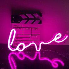 ENUOLI Pink Neon Sign Love Neon Light LED Neon