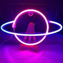 ENUOLI Planet Neon Light Planet Neon Signs Neon