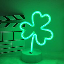 ENUOLI Shamrock Neon Signs Green Neon Light With