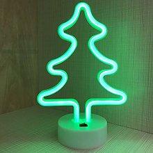 ENUOLI Tree Neon Signs LED Christmas Tree Neon