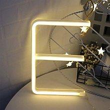 ENUOLI Warm White Neon LED Letters Sign Night Lamp