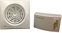 Envirovent SIL100HTP12V Axial Silent Extractor Fan