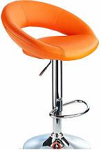 Envy Orange Breakfast Bar Stool Curvy Height