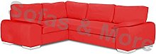 ENZO - CORNER SOFA BED WITH STORAGE - FAUX LEATHER