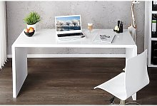 Enzo White High Gloss Computer Office Desk