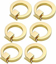 EOPER 6 Packs Round Ring Drawer Pulls Cupboard