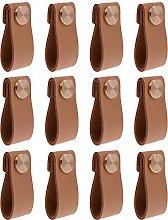 EOPER Single-Hole Leather Pull Handle,Wardrobe