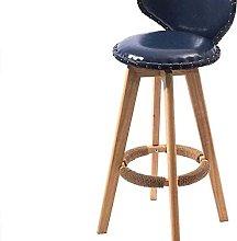 Eortzxk Simple Barstools, Bar stool PU Leather