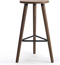 Eortzxk Simple Barstools, Solid Wood Bar Stools