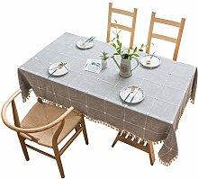 Eotifys tablecloth Plaid Decorative Linen