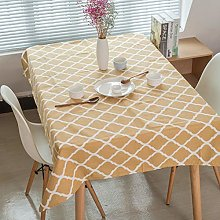 Eotifys tablecloth Yellow Green Geometry Plaid Art