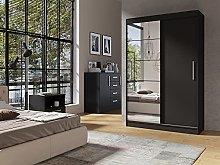 Epic 120 Sliding Door Wardrobe Black Ma