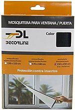 EPID Velcro Insect Screen, Black, 150 x 120 cm
